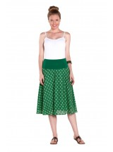 Gita Cotton Voile A line Skirt – Spanish Green Print