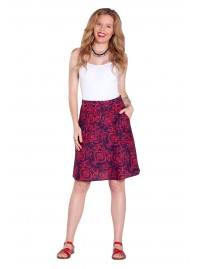 Melissa A Line Cotton Skirt - Garland Print