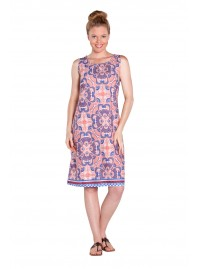 Sassy Cotton Shift Dress in Mexican Heart Print