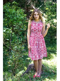 Jude Cotton 50's Jacquard Print A Line Dress