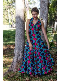 Holly Maxi Dress - Soho  Print