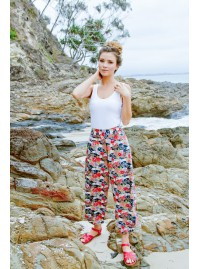 Henley Pant - Japanese Meadow Print