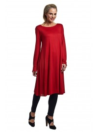 Scoop neck Tunic -Red