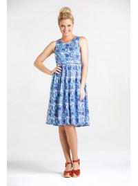 Jude Cotton 50's Puri  Print A Line Dress