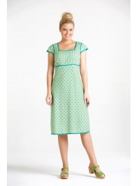 Sophie Dress- Green Daisy