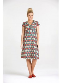 Astrid Cotton Wrap Dress - Biba Print
