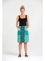 Trish A line Cotton Skirt - Bud and Seagrass  Prints
