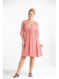 Tilly  Cotton Voile Tunic in Pink Fan Print