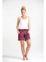 Pippa Shorts - Mountain Pink Print