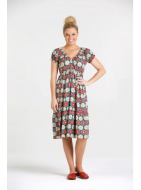 Sue Cotton Tiered Dress - Biba Print