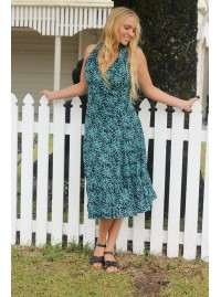 Polly Dress - Seagrass Print