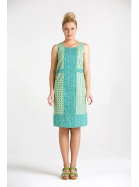 Daisy Cotton Shift Dress in Daisy and Bud Prints