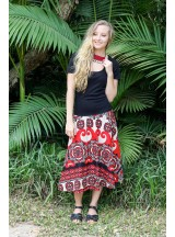 Gita Cotton Voile A line Skirt – Retro Print