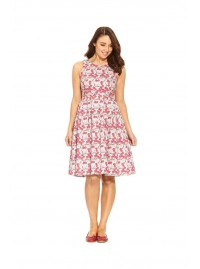 Jude Cotton 50's Blossom  Print A Line Dress