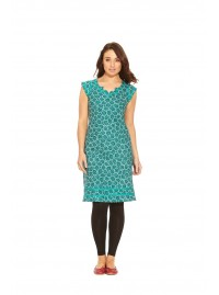Cassy Cotton Braid Dress Cornflower  Print