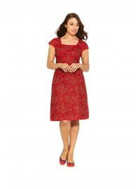 Sophie Dress- Red Squiggle Print