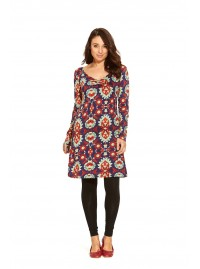 Poppy L/S Cotton Tunic - Positano  Print