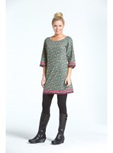 Sonali Cotton Tunic  Purple Flower  Print