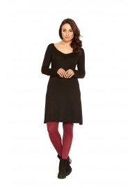 Pandora L/S Viscose Tunic - Plain Black