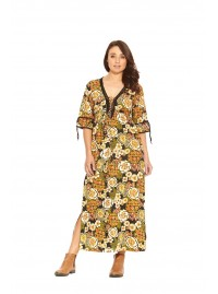 Gypsy Maxi Dress- Klimt Print
