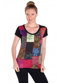 Kiku Cotton Patchwork T shirt