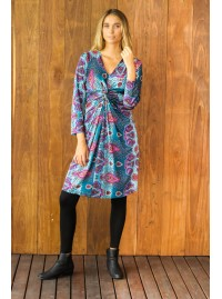 Twist  Dress in Gamla Print