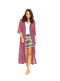 Wild At Heart Duster - Gulabi  Print