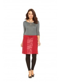 Karin Cotton Skirt- Red Kiru Kara Print
