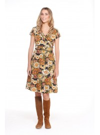 Astrid Cotton Wrap Dress - Klimt  Print