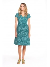 Astrid Cotton Wrap Dress - Cornflower Print