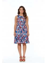 Jude Cotton 50's  A Line Dress-Kyoto Print