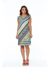 Cassy Cotton Braid Dress Palais Print