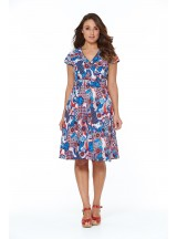 Astrid Cotton Wrap Dress - Kyoto Print