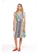Astrid Cotton Wrap Dress - Palais  Print