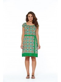 Georgie Cotton Tunic Dress - Capri Print