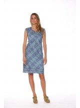 Cassy Cotton Braid Dress Santorini Print