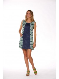 Ellen Tunic Dress - Marais print mix