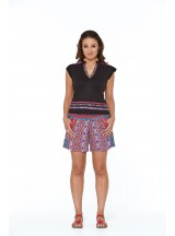 Pippa Shorts -Sol Red Print
