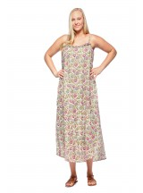 Diana Cotton Voile Maxi Dress - Udaipur print