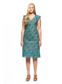 Cassy Cotton Braid Dress Patchwork Print