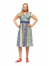 Leela Cotton Wrap Dress - Palais Print