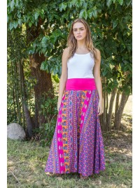 Nicole Long Cotton Voile Skirt – Gulabi Print