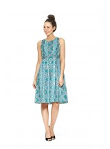 Jude Cotton 50's Dragonfly  Print A Line Dress
