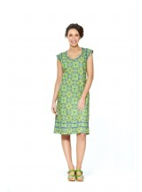 Cassy Cotton Braid Dress Lime Paisley Print