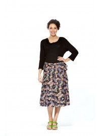 Beth Cotton Wrap Skirt – Fuji Print