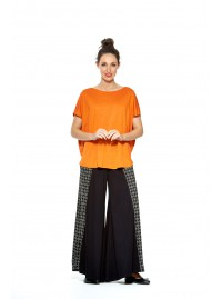 Ariane Viscose poncho Top- Orange