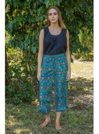 Henley Pant -Patchwork print