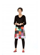 Yui Cotton Skirt- Mixed Patchwork
