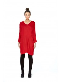 Carmella Batwing Tunic -Red