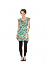 Cassy Cotton Braid Dress- SHORT - Pebble Print